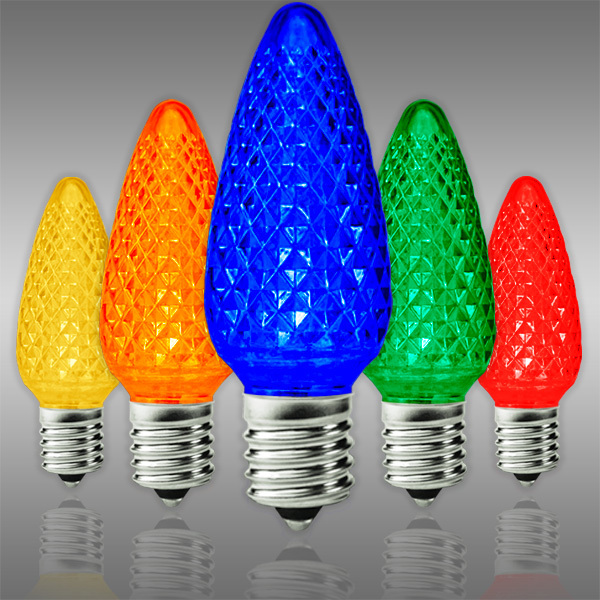 Multi Color C9 Led Replacement Bulbs 25 Pack Christmas
