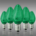 LED C7 - Green - 0.6 Watt - Candelabra Base - Faceted Finish Image