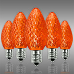 LED C7 - Orange - 0.6 Watt - Candelabra Base - Faceted Finish Image