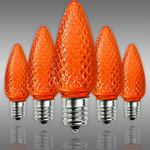 LED C9 - Orange - 0.45 Watt - Intermediate Base - Faceted Finish Image