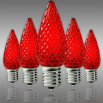 C9 LED - Red - Faceted Finish Image