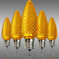 LED C9 - Yellow - 0.66 Watt - Intermediate Base - Faceted Finish - 50,000 Life Hours - LED Retrofit Bulb - 120 Volt - Pack of 25