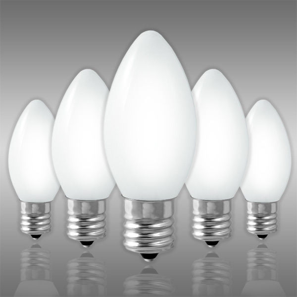 25 Pack - C9 - Opaque White - 7 Watt Image