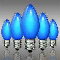 C7 - Opaque Blue - Candelabra Base  -  7 Watt - Christmas Light Replacement Bulbs - 130 Volt - 25 Pack