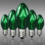 25 Pack - C7 - Transparent Green - Double Dipped - 7 Watt Image