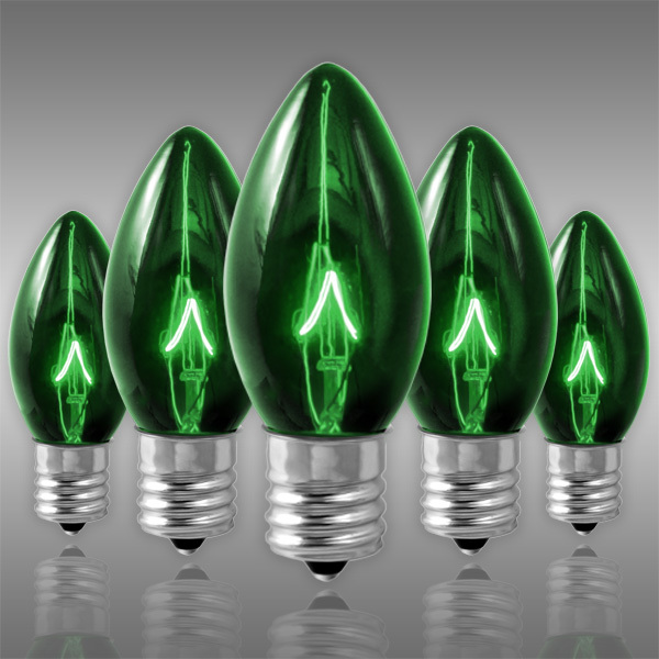 25 Pack - C9 - Transparent Green - 7 Watt Image