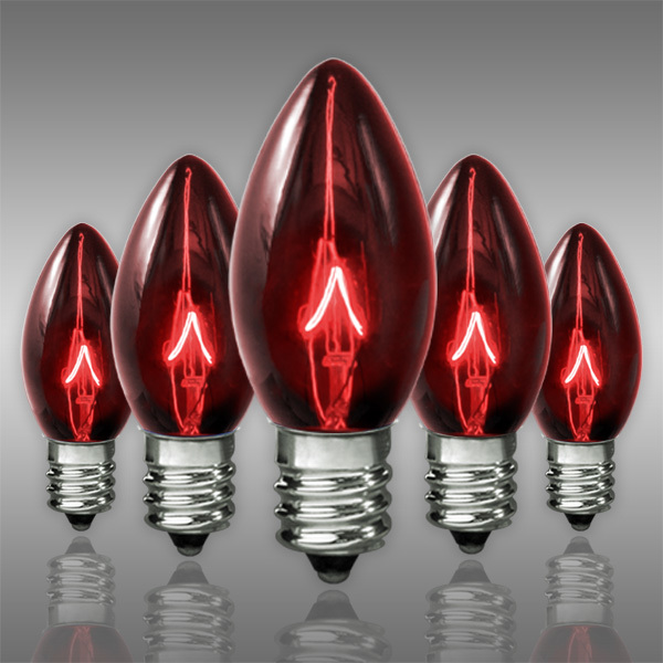 Replacement Christmas Bulbs.C7 Transparent Red Replacement Bulb 5 Watt 1000bulbs Com