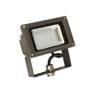 2100 Lumens - 4000 Kelvin - 20 Watt - Mini LED Flood Light Fixture - Landscape and Wall Washer - Height 3.3 in. - Width 5.27 in. - Depth 5.66 in. - 120-277V - 5 Year Warranty - Equal to a 70W Metal Halide and Uses 70% Less Energy - MaxLite 100567
