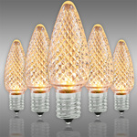 C9 LED - Warm White Deluxe - Faceted Finish Image