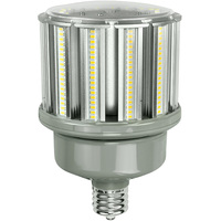 9300 Lumens - 80 Watt - LED Corn Bulb - 250W Metal Halide Equal - 4000 Kelvin - Mogul Base - 120-277V - 5 Year Warranty