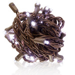 Case of 24 - Cool White LED String Lights - 26 ft. - Brown Wire - 5mm Wide Angle - 50 Bulbs Image