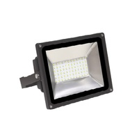 5800 Lumens - Mini LED Flood Light Fixture with Photocell - 50 Watt - 5000 Kelvin - Height 8.07 in. - Width 7.32 in. - 120-277V - MaxLite 14098960