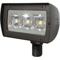 12,000 Lumens - LED Flood Light Fixture - 103 Watt - 4100 Kelvin - Height 15.22 in. - Width 9.98 in. - 120-277V - Maxlite 107228