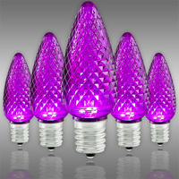 C9 LED - VividCore - Purple - Faceted Finish - Christmas Light Replacement Bulb - Intermediate Base - Pack of 25