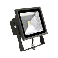 5400 Lumens - LED Flood Light Fixture with Photocell - 49 Watt - 5000 Kelvin - Height 8.07 in. - Width 7.32 in. - 120-277V - MaxLite 96321