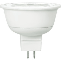 500 Lumens - 3000 Kelvin - LED MR16 - 7 Watt - 50W Equal - 40 Deg. Flood - CRI 82 - Dimmable - 12V - GU5.3 Base - TCP LED712VMR16V30KFL