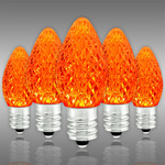 LED  C7 - Orange - 0.54 Watt - Candelabra Base - Faceted Finish Image