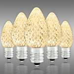 LED C7 - Warm White - 0.66 Watt - Candelabra Base - Faceted Finish Image
