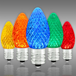 LED C7 - Multi-Color - 0.54 Watt - Candelabra Base - Faceted Finish Image