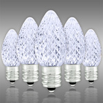 LED C7 - Cool White - 0.54 Watt - Candelabra Base - Faceted Finish Image