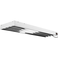 4 ft. - 4 Lamp - F54T5-HO - Fluorescent Grow Light Fixture - Full Spectrum 6400K - Lamps and Wire Hangers Included - Hydrofarm Tube Commercial System - HydroFarm FLT44
