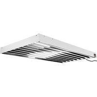 4 ft. - 8 Lamp - F54T5-HO - Fluorescent Grow Light Fixture - Full Spectrum 6400K - Lamps and Wire Hangers Included - Hydrofarm Tube Commercial System - HydroFarm FLT48