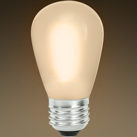 S14 - LED - Color Matched For Incandescent Replacement - Frosted - 0.7 Watt - 11W Equal - 55 Lumens - CRI 80 - Bulbrite 776686