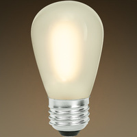 S14 - LED - Vertical Filament - Frosted - 0.7 Watt - 55 Lumens - 11 Watt Equal - 2700K Warm White - Bulbrite 776687