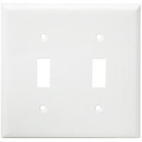 White - 2 Gang - Toggle Wall Plate - Enerlites 8812-W