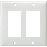White - 2 Gang - Decorator Wall Plate - Enerlites 8832-W