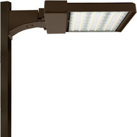 26,400 Lumens - 5000 Kelvin - 220 Watt - LED Parking Lot Fixture - Type V - 200-480V - Comes with 6 in. Mounting Arm - 51% Brighter Than 400W Metal Halide and Uses 45% Less Energy