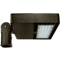 9500 Lumens - LED Parking Lot Area and Flood Fixture - 80 Watt - 5000 Kelvin - Type III - 120/277V - Comes with Slipfitter Mounting Bracket - PLT-10842BR