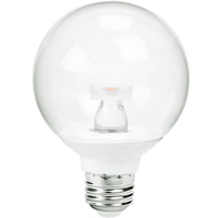 400 Lumens - 6W - 40W Equal - LED G25 Globe - 3.15 in. Diameter - 2700 Kelvin - Clear - Medium Base - Dimmable - 120V - 90+ Lighting SE-RL6.CO30.1106