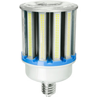 15,000 Lumens - 100 Watt - LED Corn Bulb - 400W Metal Halide Equal - 5000 Kelvin - Mogul Base - 120-277V - 5 Year Warranty