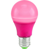 LED A19 Party Bulb - Pink - 5 Watt - 40 Watt Equal - 120 Volt - PLT-11286