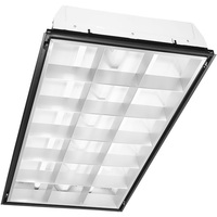 2 x 4 LED Recessed Troffer - 18 Louvered Cells -  Equal to a 2-Lamp T8 Fluorescent Troffer - 2 LED Tubes Included