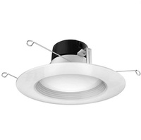 1200 Lumens - 5-6 in. Retrofit LED Downlight - 15.5W - 90W Equal - 2700 Kelvin - Stepped Baffle Trim - Dimmable - 120V - Satco S29740