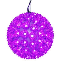 LED - Purple Starlight Sphere - Utilizes 150 Wide Angle LED Lights - 10 in. dia.  - Green Wire - Indoor/Outdoor - 120 Volt - Vickerman X121006