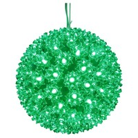 LED - Green Starlight Sphere - Utilizes 150 Wide Angle LED Lights - 10 in. dia.  - Green Wire - Indoor/Outdoor - 120 Volt - Vickerman X121004