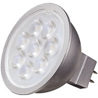 500 Lumens - 3000 Kelvin - LED MR16 - 6.5 Watt - 50W Equal - 25 Deg. Narrow Flood - CRI 80 - Dimmable - 12V - GU5.3