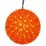 LED - 10 in. dia. Orange Starlight Sphere - Utilizes 150 Wide Angle LED Lights Image