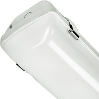 4400 Lumens - 4 ft. LED Vapor Tight Fixture - 40 Watt - 4000 Kelvin - Frosted Lens - IP65 Rated - 120-277V - PLT 55254