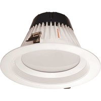 3000 Lumens - 8 in. Retrofit LED Downlight - 40W - 200W Equal - 3000 Kelvin - Stepped Baffle Trim - Dimmable - 90 CRI - 120V - SYLVANIA 72625