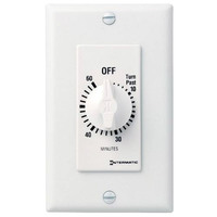 Intermatic FD460MW - Spring Wound Auto-Off Timer - 60 Min Time Cycle - DPST - White - Case of 6