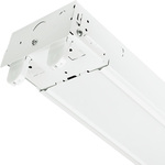 4 ft. LED Ready Strip Fixture, 2 Lamp, White Finish
