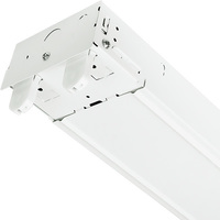 4 ft. x 4.4 in. - LED Ready Strip Fixture - Operates (2) 4' Double-Ended Direct Wire LED Lamps (Sold Separately) - 120-277 Volt