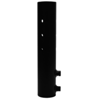 14.25 in. Tenon Adapter - For use with 3-1/2 in. Slipfitter Fixture and 4 in. Square Pole or Wall Mount - Lithonia AST25-190 DBL