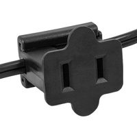 Black - Female Gilbert Inline Replacement Plug for Commercial Christmas Lights - SPT-2 Rated