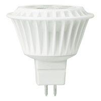 350 Lumens - 3000 Kelvin - LED MR16 - 5 Watt - 35W Equal - 40 Deg. Flood - CRI 82 - Dimmable - 12V - GU5.3 Base - TCP LED512VMR1630KFL