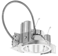 6 in. Downlight - LED - 20.5 Watt - 100 Watt Equal - 3500 Kelvin - 1500 Lumens - Includes LED, Housing, Round Trim in White Finish - Dimmable - 120V - 5 Year Warranty - Lithonia LDN6 35/15 LO6ARLSS MVOLT EZ10 EL